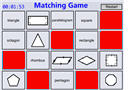 2D Shapes Game (Concentration)