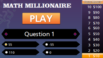 picture regarding Order of Operations Game Printable named Purchase of Functions Millionaire Recreation