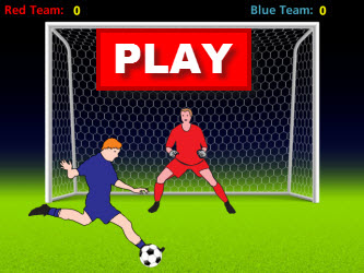 Adding One-Digit Numbers Soccer Game